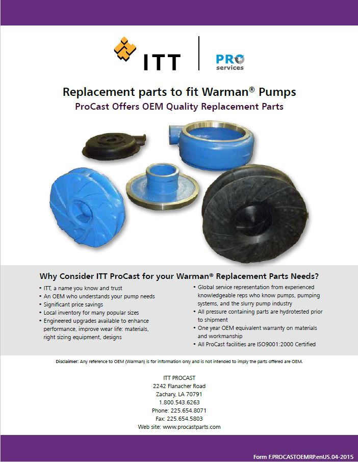 Warman® Pumps Replacement Parts